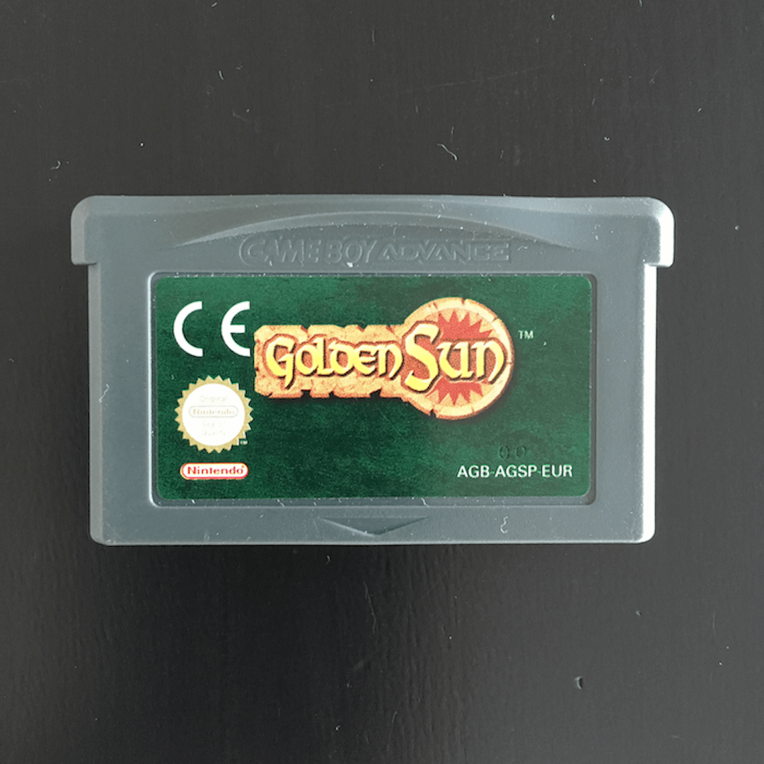 Golden Sun GBA cartridge